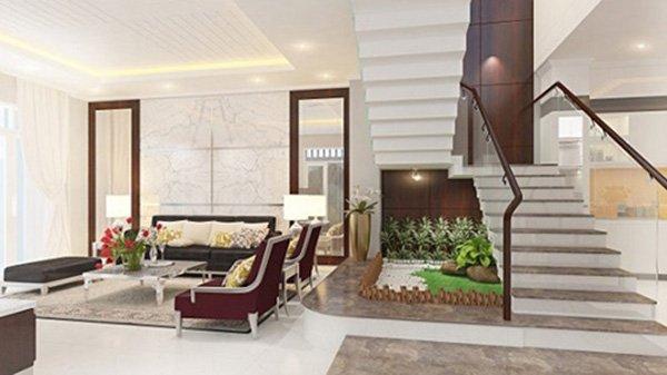 15 mẫu phòng khách nhà ống đẹp lung linh ai cũng phải ngắm nhìn - Mẫu phòng khách nhà ống 6m