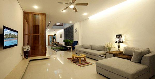15 mẫu phòng khách nhà ống đẹp lung linh ai cũng phải ngắm nhìn - Mẫu phòng khách nhà ống 5m