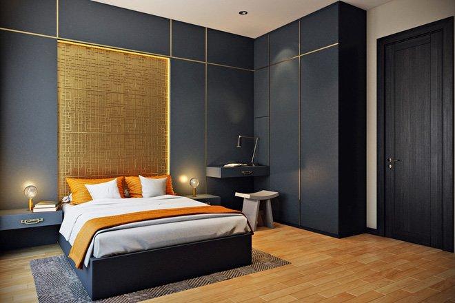 16 mẫu phòng ngủ hiện đại có trang trí đầu giường đẹp mất hồn-1
