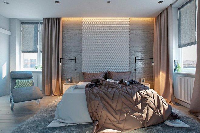16 mẫu phòng ngủ hiện đại có trang trí đầu giường đẹp mất hồn-10