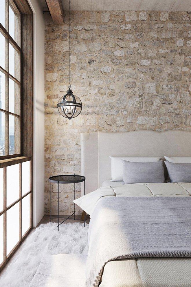 16 mẫu phòng ngủ hiện đại có trang trí đầu giường đẹp mất hồn-12