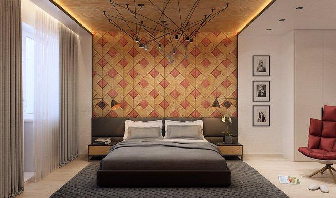 16 mẫu phòng ngủ hiện đại có trang trí đầu giường đẹp mất hồn-13
