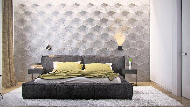 16 mẫu phòng ngủ hiện đại có trang trí đầu giường đẹp mất hồn-2
