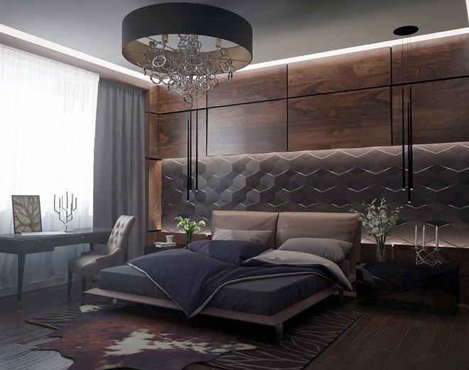 16 mẫu phòng ngủ hiện đại có trang trí đầu giường đẹp mất hồn-3