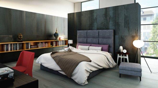 16 mẫu phòng ngủ hiện đại có trang trí đầu giường đẹp mất hồn-4