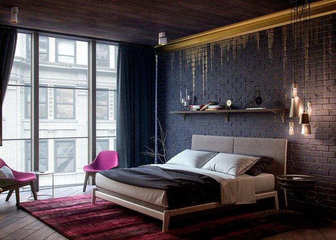16 mẫu phòng ngủ hiện đại có trang trí đầu giường đẹp mất hồn-5