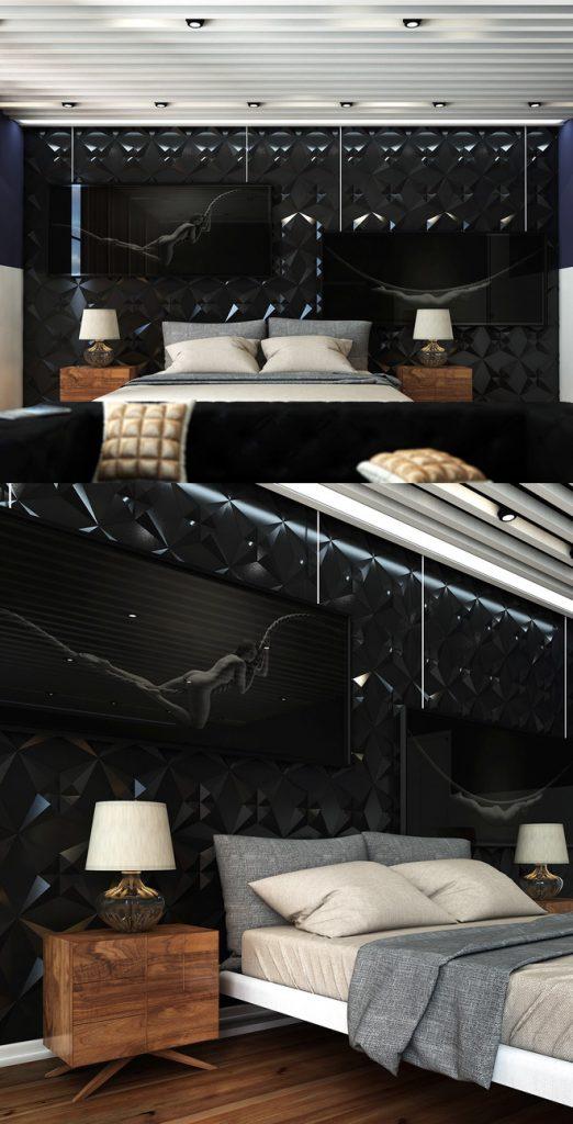 16 mẫu phòng ngủ hiện đại có trang trí đầu giường đẹp mất hồn-6