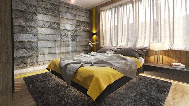 16 mẫu phòng ngủ hiện đại có trang trí đầu giường đẹp mất hồn-8