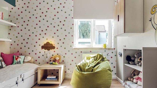 Các mẫu giấy dán tường trang trí phòng ngủ trẻ em đáng yêu mà rẻ