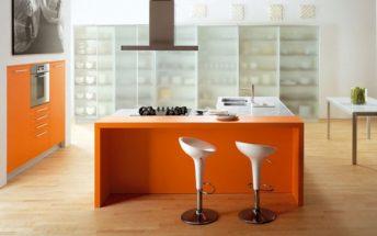 Những mẫu thiết kế phòng bếp đẹp thu hút mọi ánh nhìn với sắc cam nổi bật thumbnail