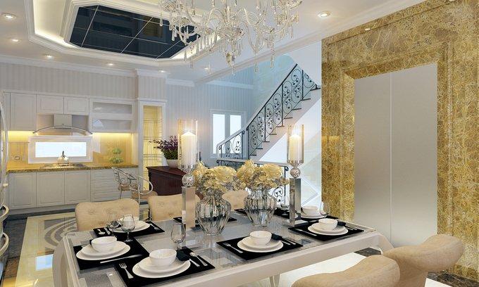 Phòng bếp kết hợp với phòng ăn - Các giải pháp không gian bếp thỏa sức sáng tạo-1
