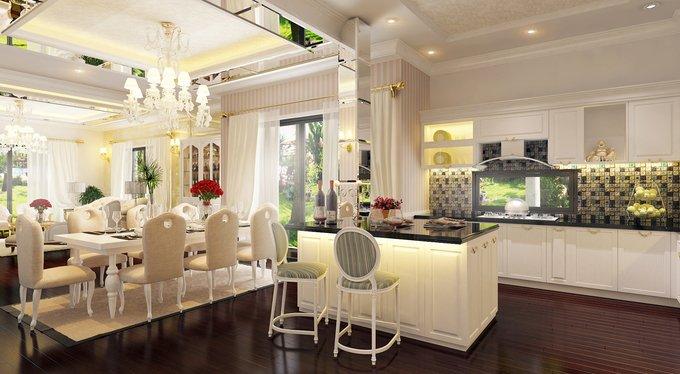 Phòng bếp kết hợp với phòng ăn - Các giải pháp không gian bếp thỏa sức sáng tạo-2