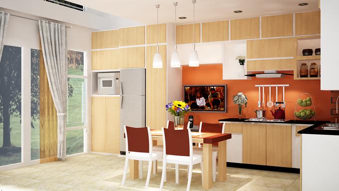 Phòng bếp kết hợp với phòng ăn - Các giải pháp không gian bếp thỏa sức sáng tạo-11