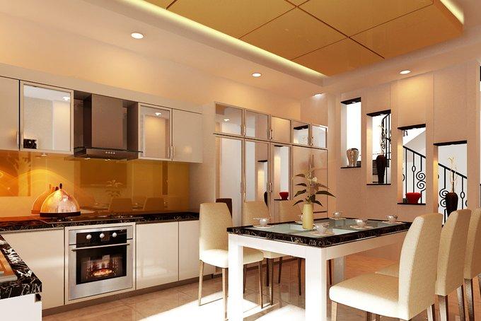 Phòng bếp kết hợp với phòng ăn - Các giải pháp không gian bếp thỏa sức sáng tạo-12