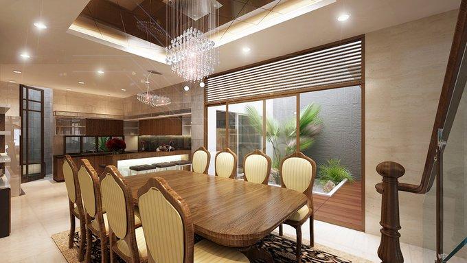 Phòng bếp kết hợp với phòng ăn - Các giải pháp không gian bếp thỏa sức sáng tạo-13