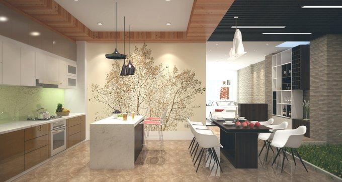 Phòng bếp kết hợp với phòng ăn - Các giải pháp không gian bếp thỏa sức sáng tạo-3