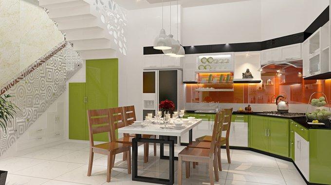 Phòng bếp kết hợp với phòng ăn - Các giải pháp không gian bếp thỏa sức sáng tạo-4