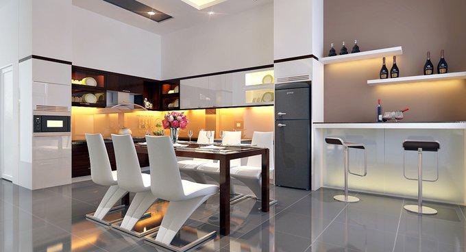 Phòng bếp kết hợp với phòng ăn - Các giải pháp không gian bếp thỏa sức sáng tạo-5
