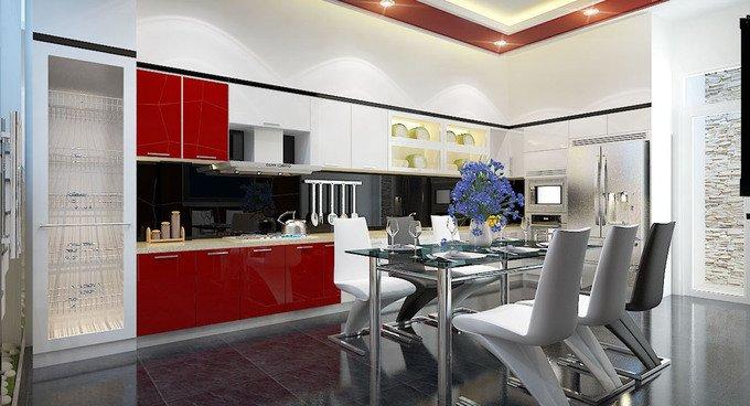 Phòng bếp kết hợp với phòng ăn - Các giải pháp không gian bếp thỏa sức sáng tạo-6