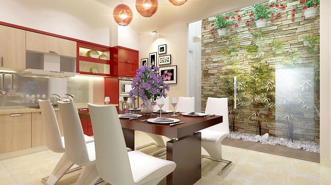 Phòng bếp kết hợp với phòng ăn - Các giải pháp không gian bếp thỏa sức sáng tạo-7