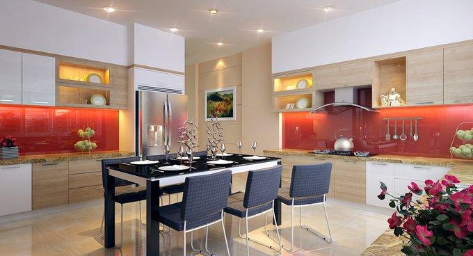 Phòng bếp kết hợp với phòng ăn - Các giải pháp không gian bếp thỏa sức sáng tạo-8
