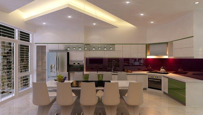 Phòng bếp kết hợp với phòng ăn - Các giải pháp không gian bếp thỏa sức sáng tạo-9