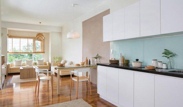 Phòng bếp kết hợp với phòng khách - Các giải pháp không gian bếp thỏa sức sáng tạo-13