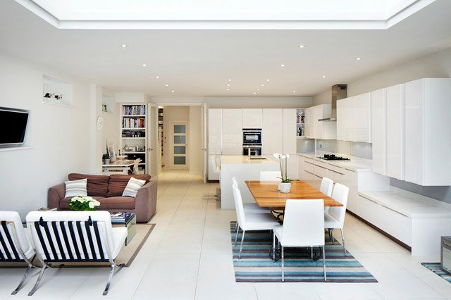 Phòng bếp kết hợp với phòng khách - Các giải pháp không gian bếp thỏa sức sáng tạo-16