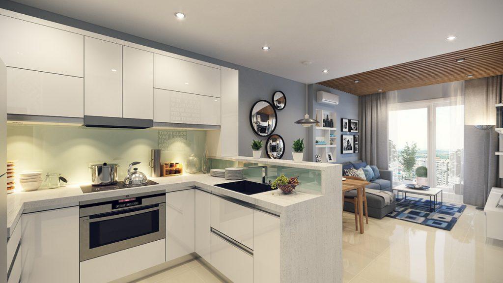 Phòng bếp kết hợp với phòng khách - Các giải pháp không gian bếp thỏa sức sáng tạo-18