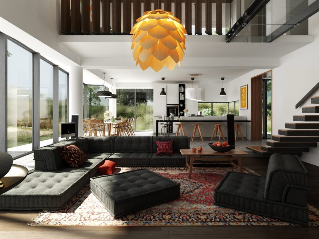 Phòng bếp kết hợp với phòng khách - Các giải pháp không gian bếp thỏa sức sáng tạo-19