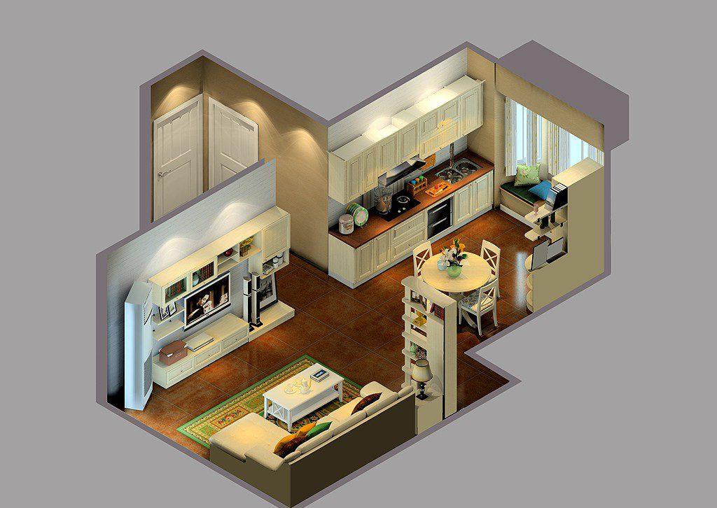 Phòng bếp kết hợp với phòng khách - Các giải pháp không gian bếp thỏa sức sáng tạo-2