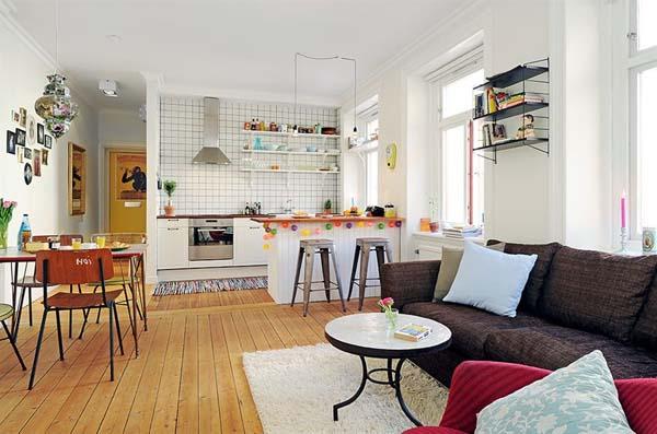 Phòng bếp kết hợp với phòng khách - Các giải pháp không gian bếp thỏa sức sáng tạo-21