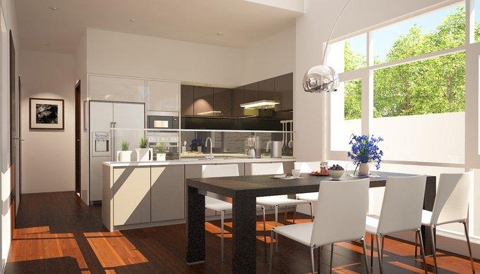 Phòng bếp mở với không gian bên ngoài - Các giải pháp không gian bếp thỏa sức sáng tạo-00