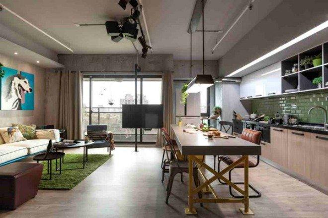 Phòng bếp kết hợp với phòng khách - Các giải pháp không gian bếp thỏa sức sáng tạo-6