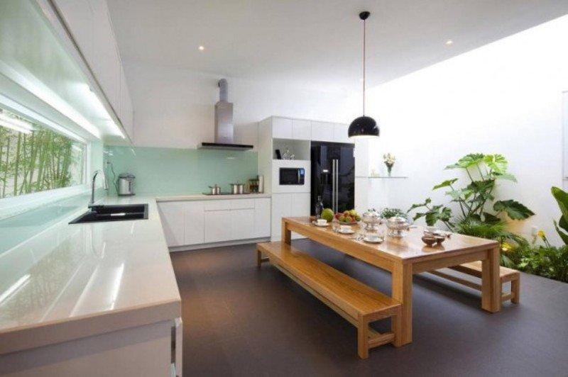 Phòng bếp kết hợp với phòng khách - Các giải pháp không gian bếp thỏa sức sáng tạo-7
