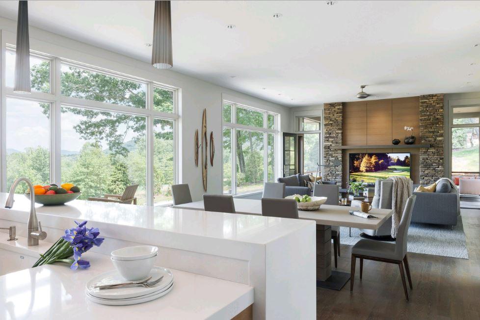 Phòng bếp kết hợp với phòng khách - Các giải pháp không gian bếp thỏa sức sáng tạo