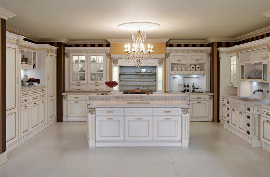 Thiết kế không gian bếp theo phong cách cổ điển