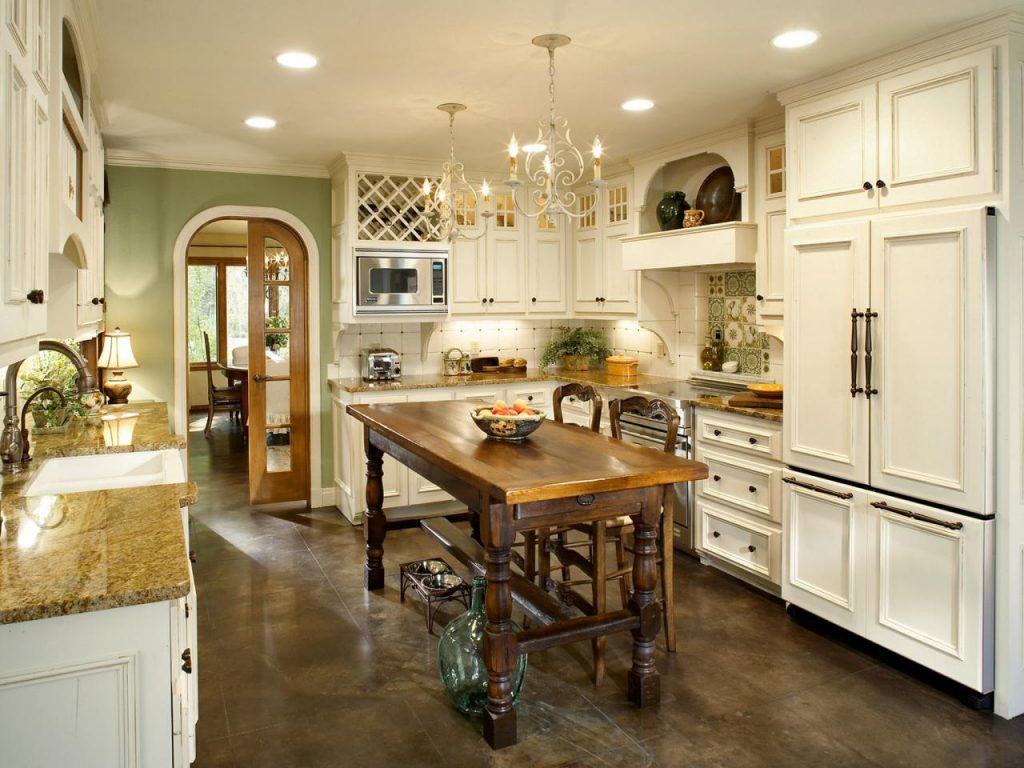 Thiết kế không gian bếp theo phong cách tân cổ điển