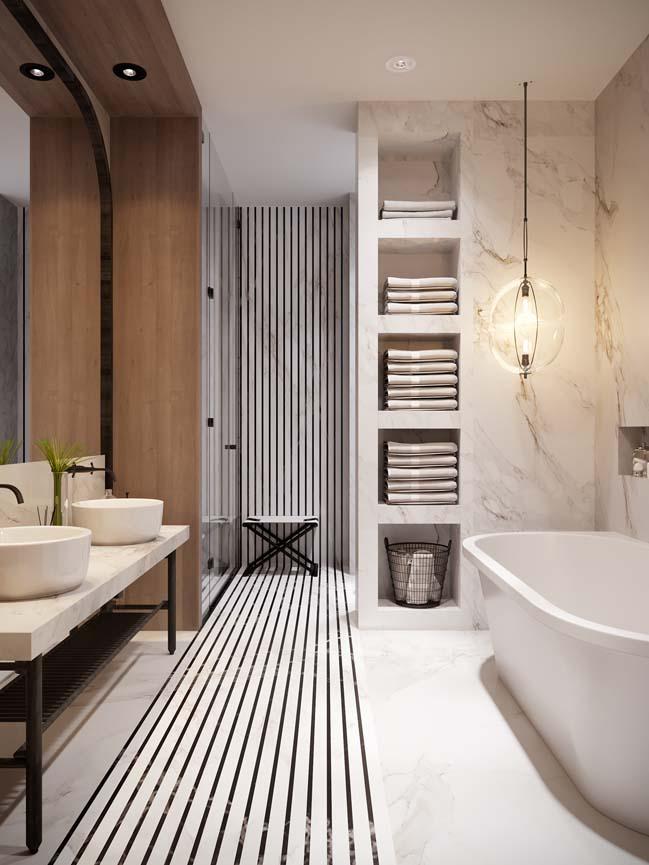 Thiết kế nội thất căn hộ màu sắc trang nhã theo phong cách tân cổ điển-10