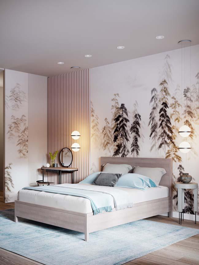 Thiết kế nội thất căn hộ màu sắc trang nhã theo phong cách tân cổ điển-12