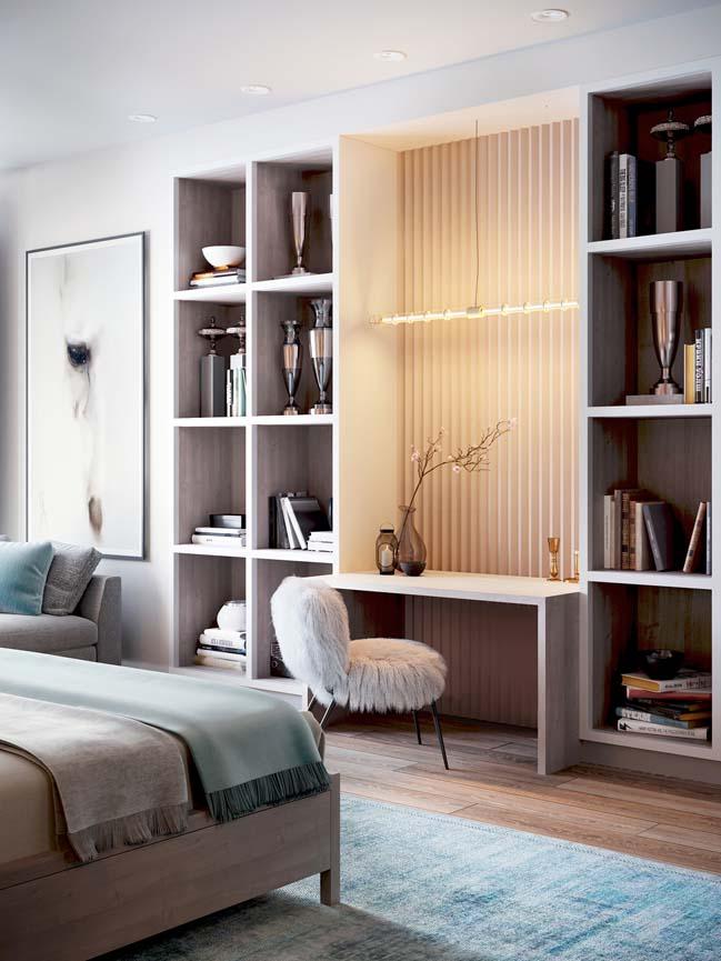 Thiết kế nội thất căn hộ màu sắc trang nhã theo phong cách tân cổ điển-13