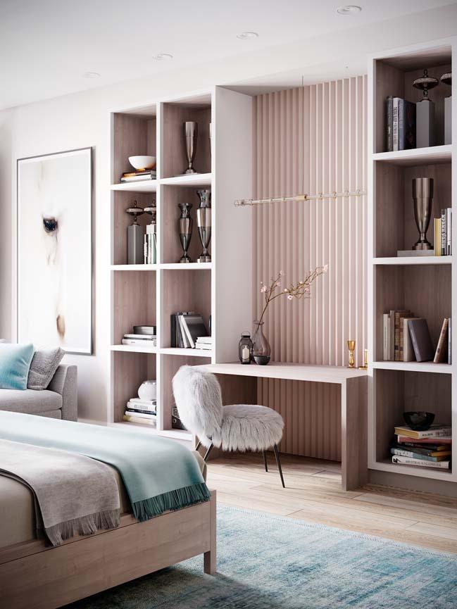 Thiết kế nội thất căn hộ màu sắc trang nhã theo phong cách tân cổ điển-14