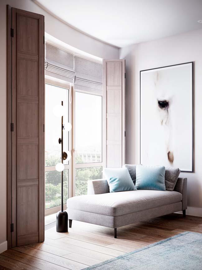 Thiết kế nội thất căn hộ màu sắc trang nhã theo phong cách tân cổ điển-15