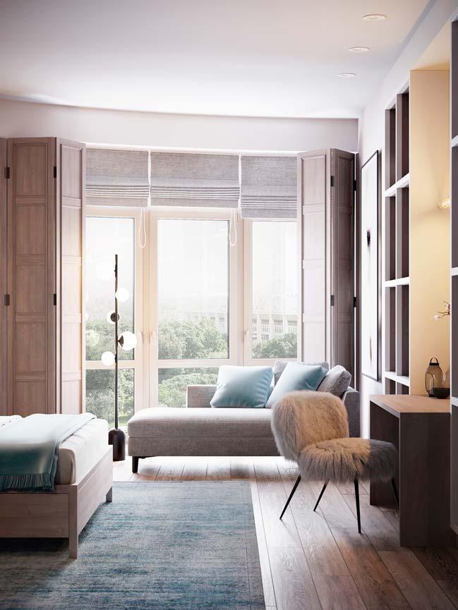 Thiết kế nội thất căn hộ màu sắc trang nhã theo phong cách tân cổ điển-16