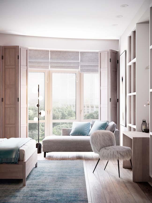 Thiết kế nội thất căn hộ màu sắc trang nhã theo phong cách tân cổ điển-17