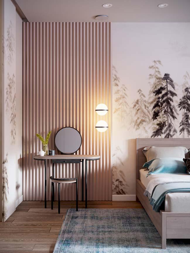 Thiết kế nội thất căn hộ màu sắc trang nhã theo phong cách tân cổ điển-18