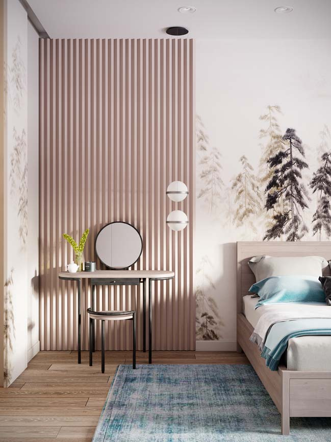 Thiết kế nội thất căn hộ màu sắc trang nhã theo phong cách tân cổ điển-19