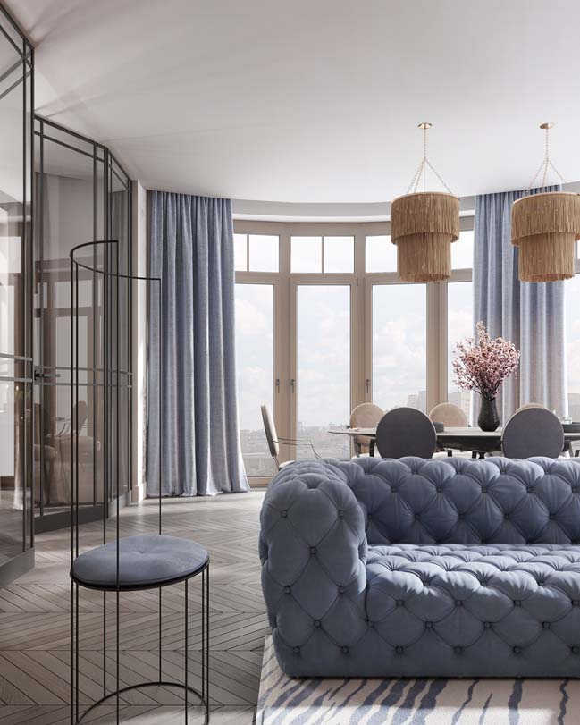 Thiết kế nội thất căn hộ màu sắc trang nhã theo phong cách tân cổ điển-2