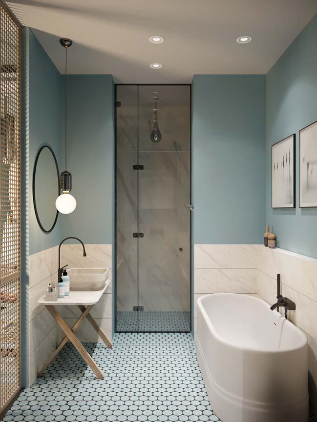 Thiết kế nội thất căn hộ màu sắc trang nhã theo phong cách tân cổ điển-20