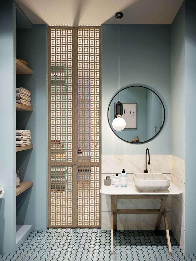 Thiết kế nội thất căn hộ màu sắc trang nhã theo phong cách tân cổ điển-21